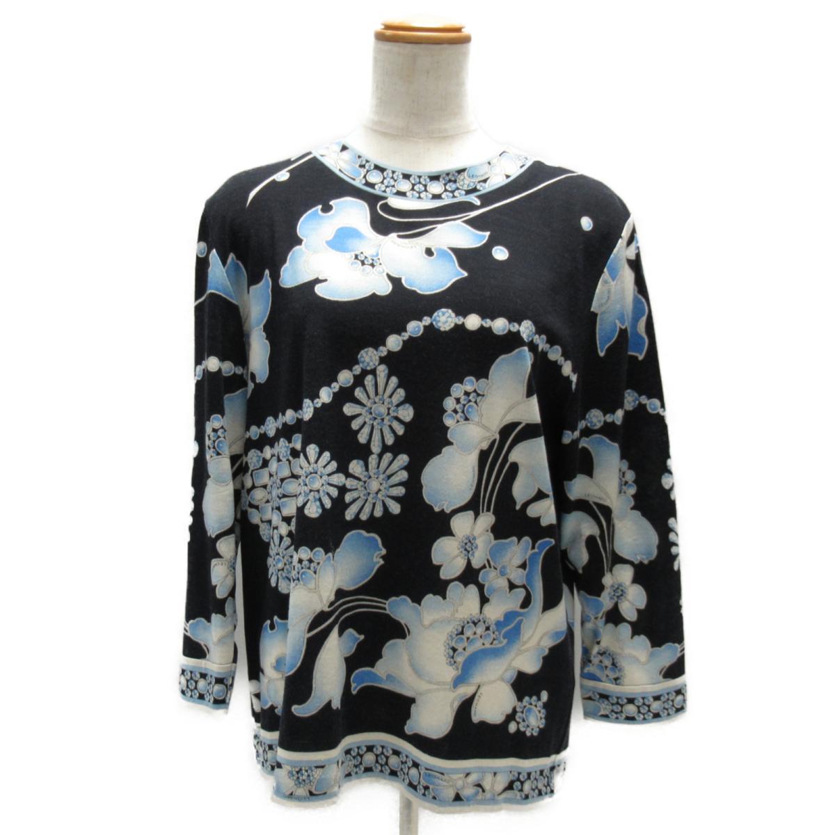 【中古】 レオナール カットソー レディース ウール (60%) x シルク (40%) ネイビー | LEONARD BRANDOFF ブランドオフ 衣料品 衣類 ブランド トップス Tシャツ シャツ