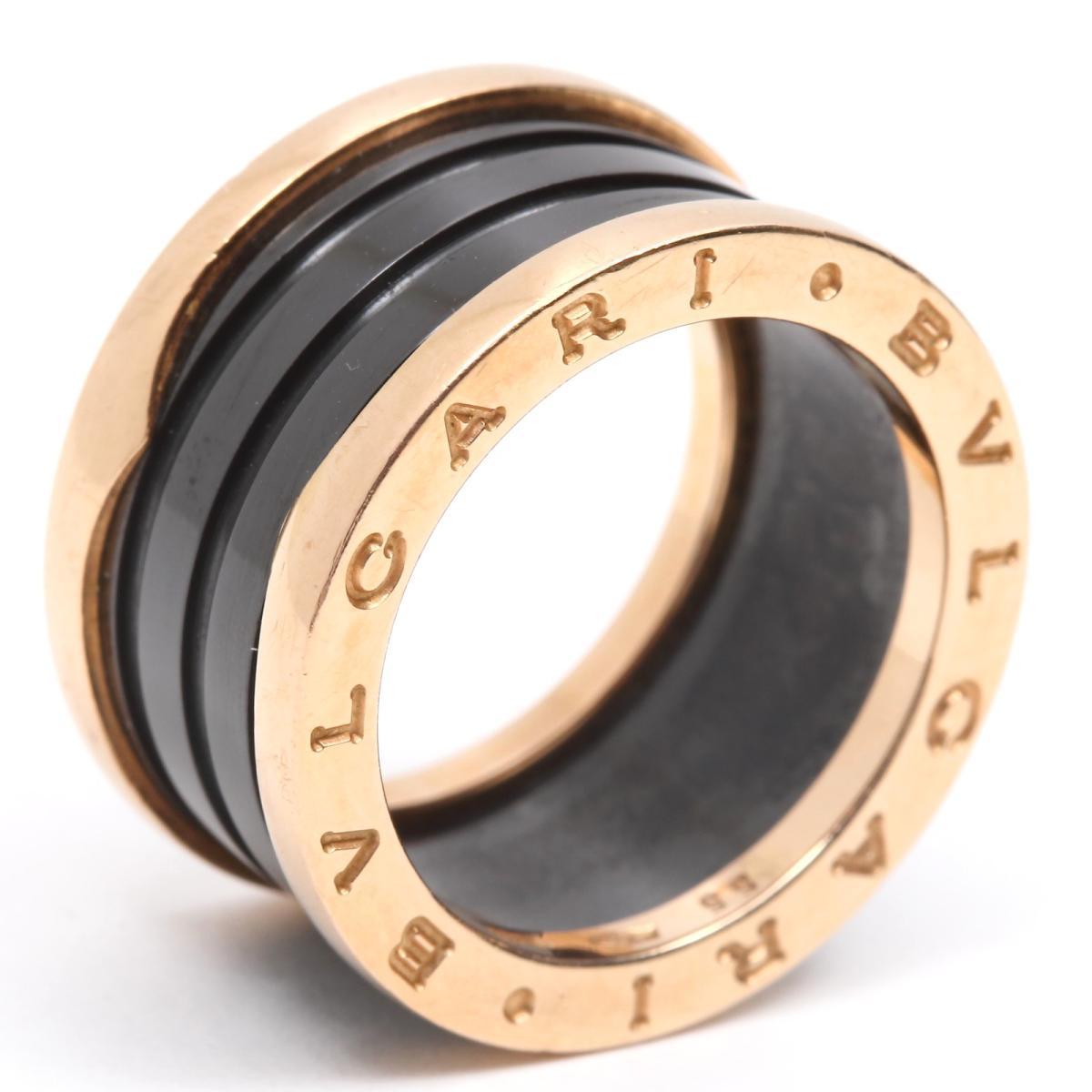 【中古】 ブルガリ B-zero1 リング Mサイズ ビーゼロワン 指輪 レディース K18PG (750) ピンクゴールド x ブラックセラミック | BVLGARI BRANDOFF ブランドオフ ブランド ジュエリー アクセサリー