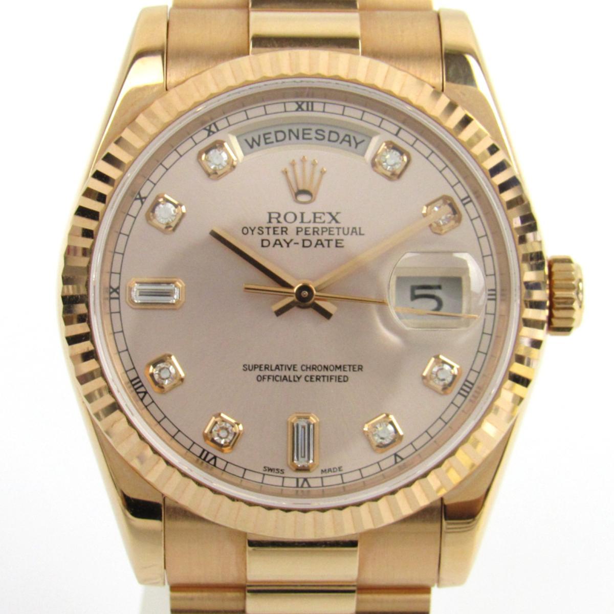 【使い勝手の良い】 【】 ロレックス デイデイト 10Pダイヤモンド ウォッチ 腕時計 メンズ K18PG (ピンクゴールド) x ダイヤモンド (118235A K番) | ROLEX BRANDOFF ブランドオフ ブランド ブランド時計 ブランド腕時計 時計, エッフェル 1a0433f5