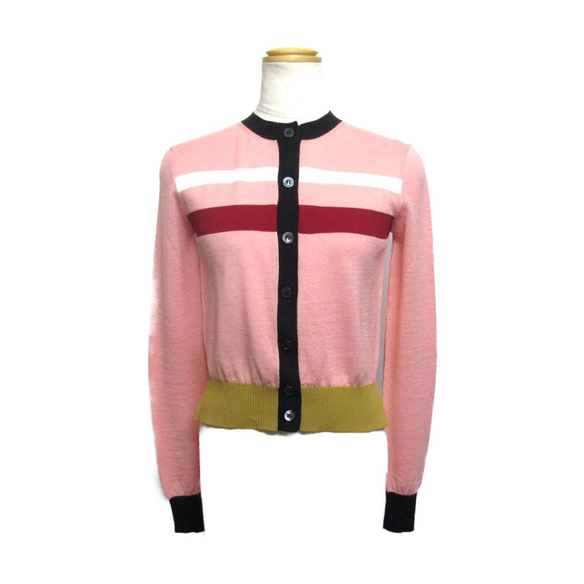【中古】 マルニ MARNI カーディガン レディース アセテート (46%) ウール (34%) ナイロン (15%) カシミア (5%) ピンク x レッド ホワイト グリーン | BRANDOFF ブランドオフ 衣料品 衣類 ブランド トップス ボレロ