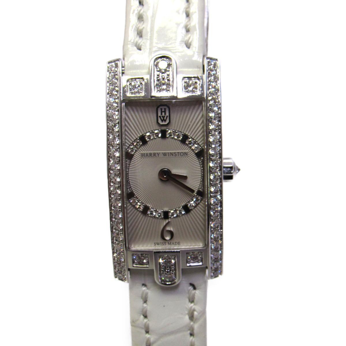 今年も話題の 【】 ハリーウィンストン アヴェニーCミニ・アールデコ 腕時計 K18WG (750) ホワイトゴールド ダイヤモンド 革ベルト (AVCQHM15)   HARRY WINSTON BRANDOFF ブランドオフ ブランド時計 ブランド腕時計 時計 ウォッチ, おもちゃ人形の桃秀 264f0216