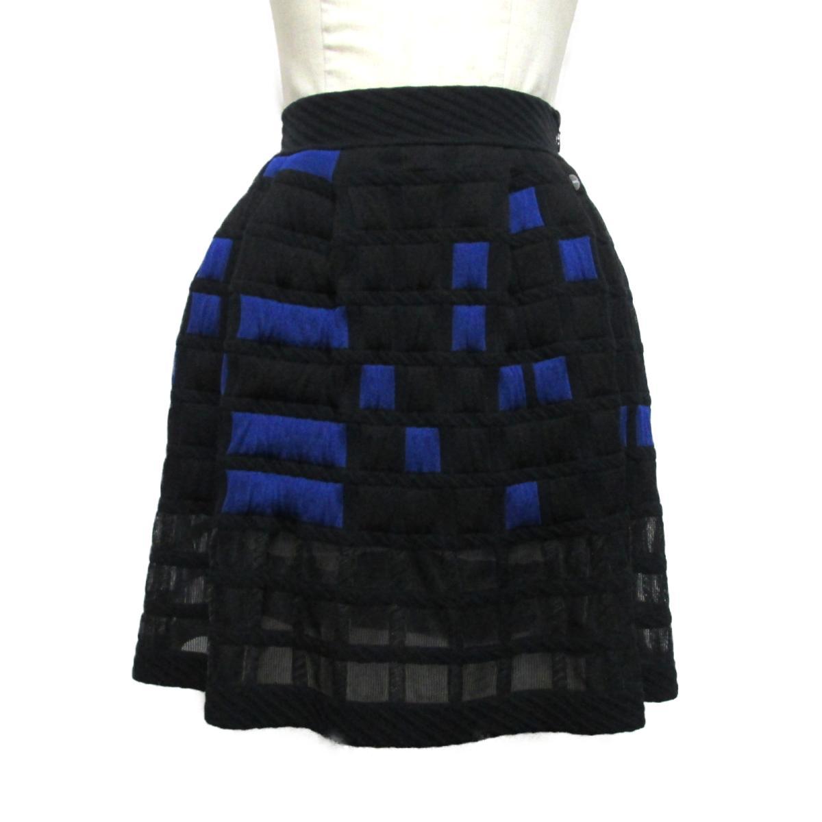【中古】 シャネル 2013S スカート レディース 45%ポリプロピレン 30%コットン 15%レーヨン 7%ナイロン 3%ポリエステル ブラック ブルー (P46099K05770)   CHANEL BRANDOFF ブランドオフ 衣料品 衣類 ブランド ボトムス