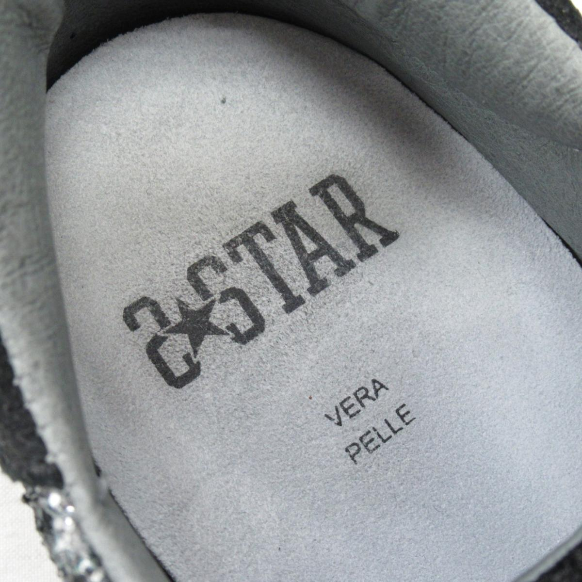 セレクション 2 STAR スニーカー レディース 牛革カーフブラック x シルバーSELECTION BRANDOFF ブランドオフ ブランド 靴 シューズ クツ0OXnwPk8