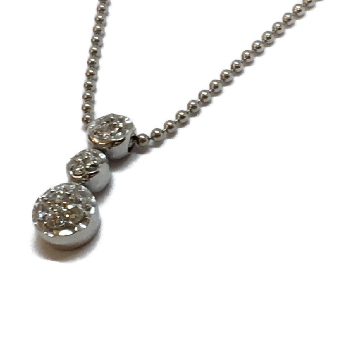 【最大4万円OFF 30日23:59まで】【中古】 ジュエリー ダイヤモンド ネックレス メンズ レディース K18WG (750) ホワイトゴールド x (刻印無し) | JEWELRY BRANDOFF ブランドオフ ブランド アクセサリー ペンダント