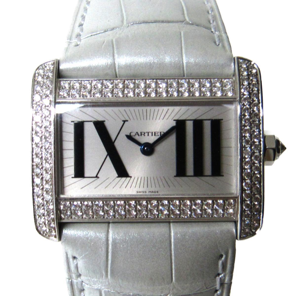 低価格の 【】 カルティエ ミニタンクディヴァン 腕時計 ウォッチ レディース K18WG (750)ホワイトゴールド x ダイヤモンド シルバー ホワイト (WA301571) | Cartier BRANDOFF ブランドオフ ブランド ブランド時計 ブランド腕時計 時計, 布団モール f2a81066