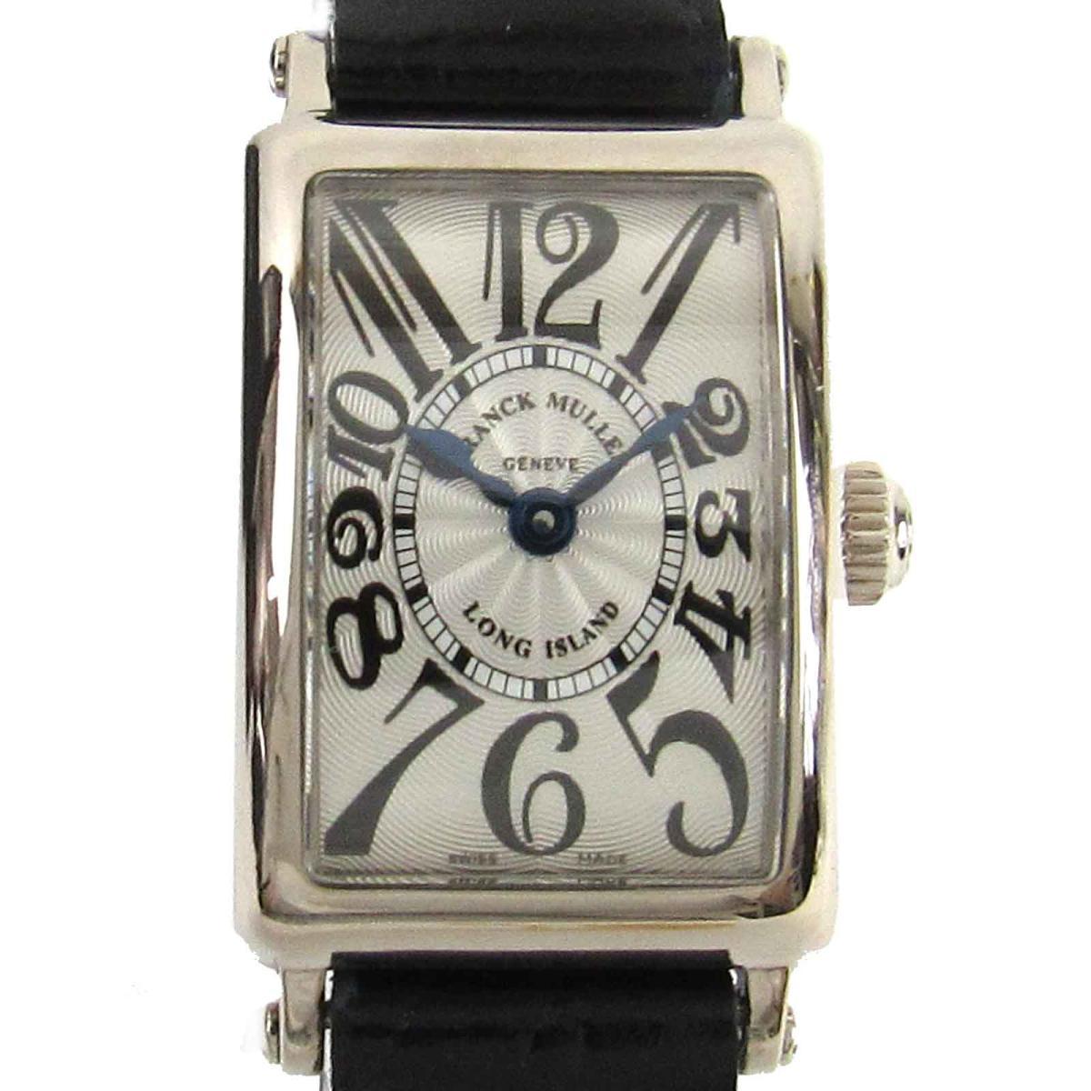 ≪期間限定≫メルマガ登録でクーポンGET! 【中古】 フランク・ミュラー ロングアイランド プティ 時計 レディース K18WG (750)ホワイトゴールド レザーベルト (802 QZ)   FRANCK MULLER BRANDOFF ブランドオフ ブランド ブランド時計 ブランド腕時計 腕時計