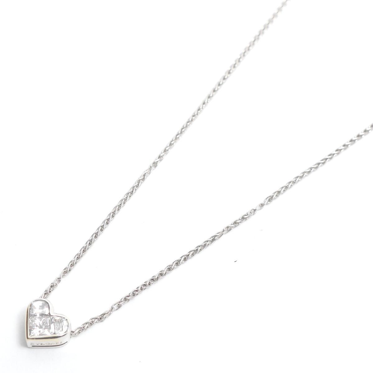 【中古】 ブルガリ クオーレ ダイヤモンド ネックレス レディース K18WG (750) ホワイトゴールド x | BVLGARI BRANDOFF ブランドオフ ブランド アクセサリー ペンダント