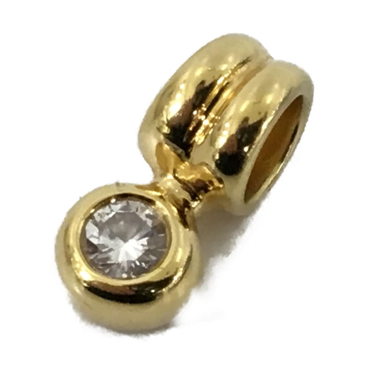 【中古】 ジュエリー ダイヤモンド ペンダントトップ メンズ レディース K18YG (750) イエローゴールド x (0.25ct) | JEWELRY BRANDOFF ブランドオフ ブランド アクセサリー トップ