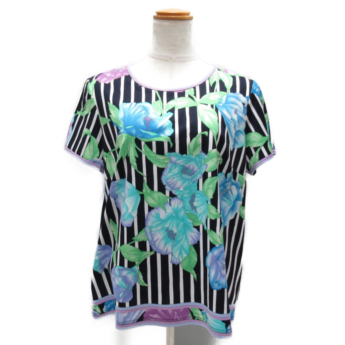 【中古】 レオナール トップス レディース コットン マルチカラー | LEONARD BRANDOFF ブランドオフ 衣料品 衣類 ブランド Tシャツ シャツ カットソー