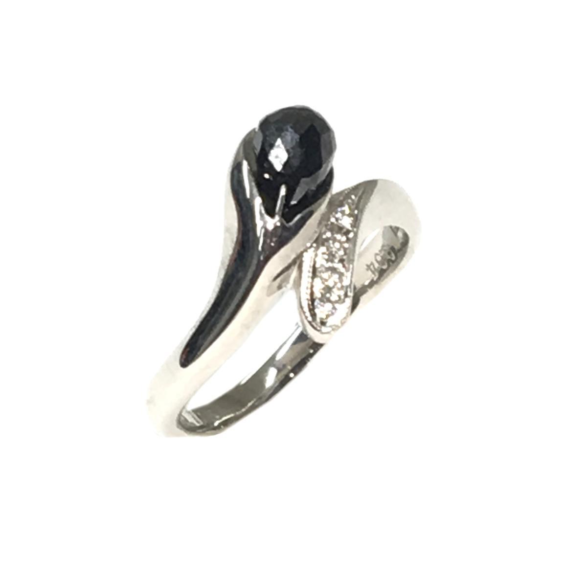 【中古】 ジュエリー ブラックダイヤモンドリング レディース Pt900 (プラチナ)ブラックダイヤモンド (1.35Ct) x ダイヤモンド (0.04Ct) シルバー   JEWELRY BRANDOFF ブランドオフ ブランド アクセサリー 指輪 リング