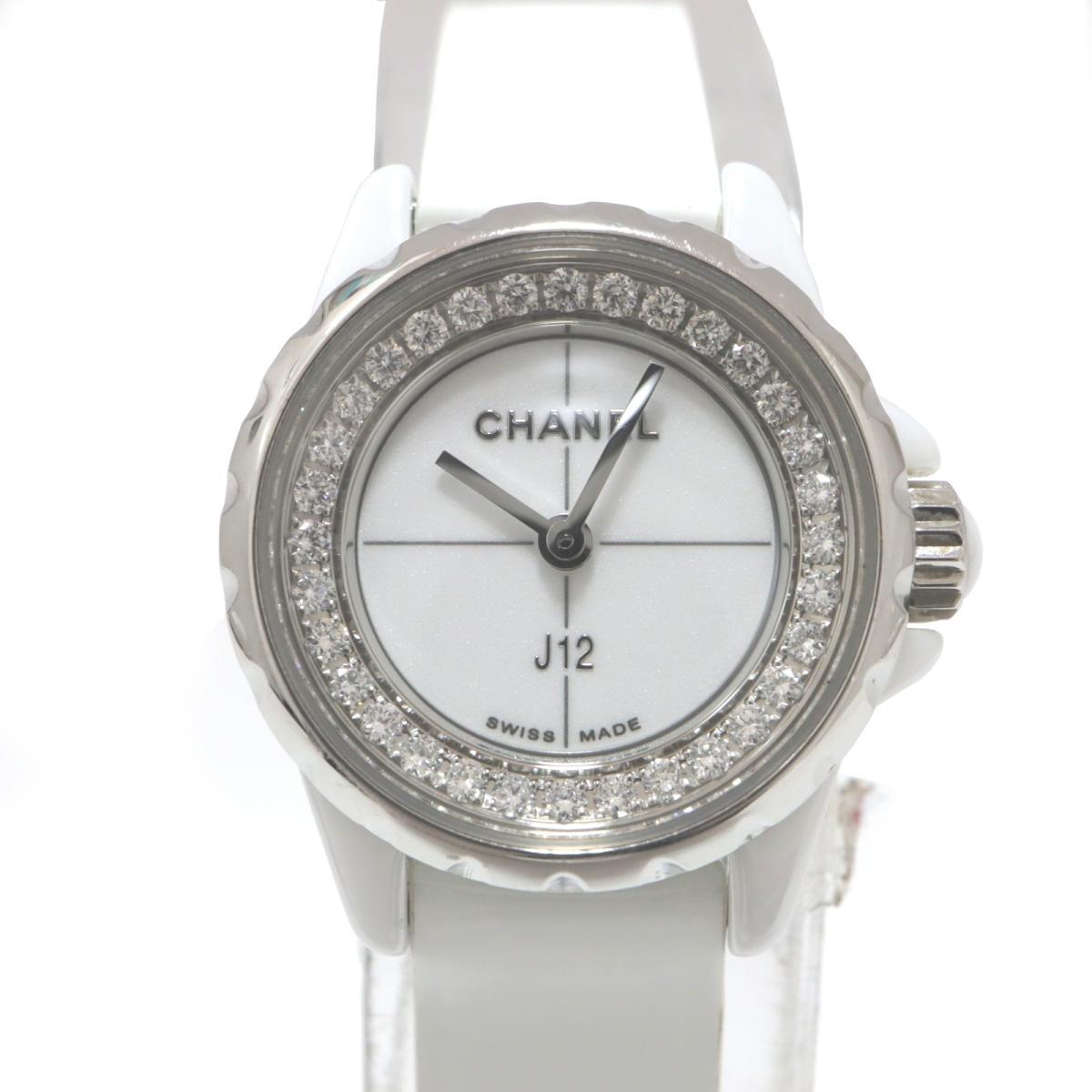 激安単価で 【】 シャネル J12 S サークルダイヤ 腕時計 レディース ステンレススチール (SS) セラミック ダイヤモンド レザー ホワイト (H4664)   CHANEL BRANDOFF ブランドオフ ブランド ブランド時計 ブランド腕時計 時計 ウォッチ, リビングート a68c1f2e