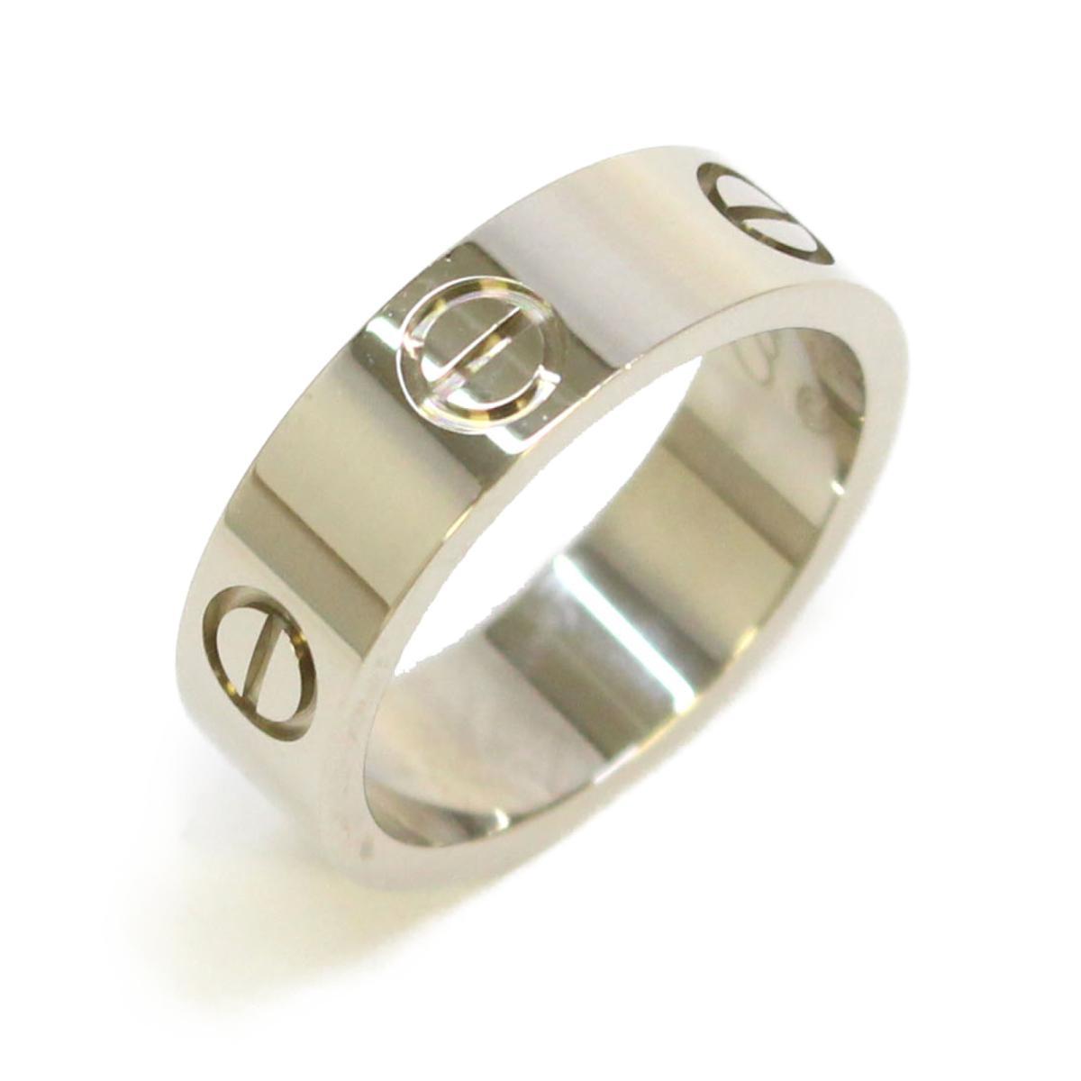 【中古】 カルティエ ラブリング リング 指輪 レディース K18WG (750) ホワイトゴールド シルバー | Cartier BRANDOFF ブランドオフ ブランド ジュエリー アクセサリー