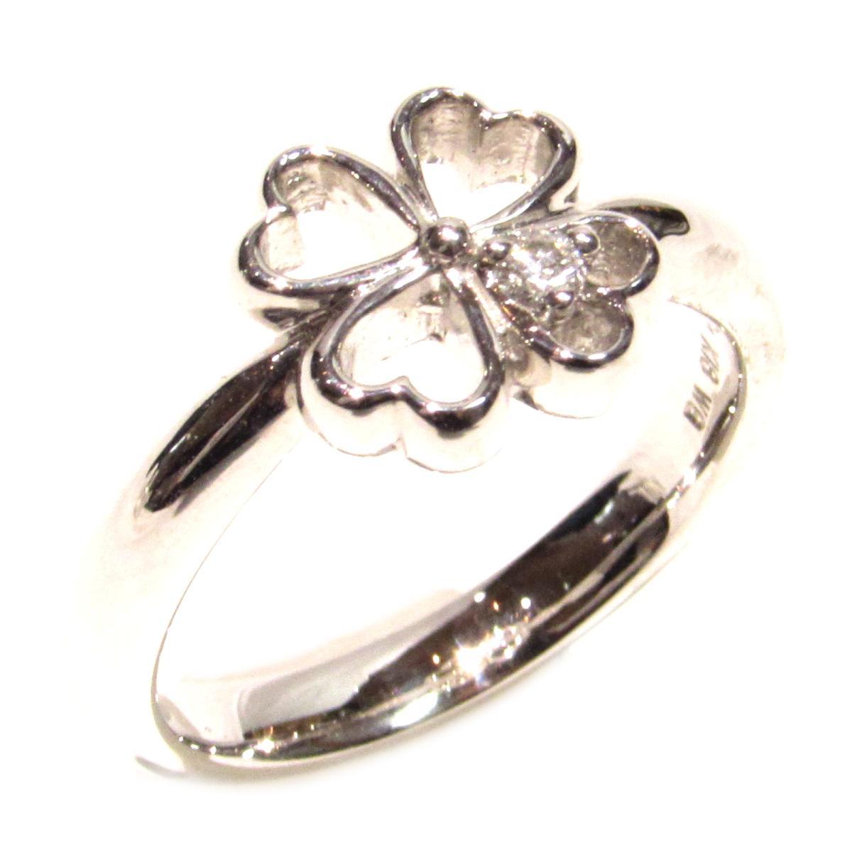 【中古】 ヨンドシー ダイヤリング 指輪 レディース K18WG (750) ホワイトゴールド x ダイヤモンド シルバー クリアー   4℃ BRANDOFF ブランドオフ ブランド ジュエリー アクセサリー リング