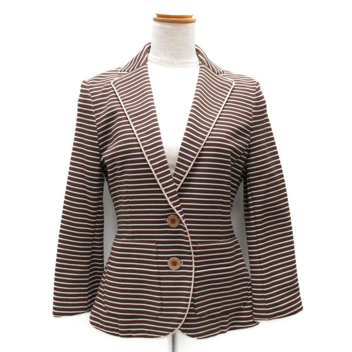 【中古】 ダブルスタンダードクロージング ジャケット レディース コットン (72%) x ポリエステル (28%) ブラウン系 | DOUBLE STANDARD CLOTHING BRANDOFF ブランドオフ 衣料品 衣類 ブランド アウター コート