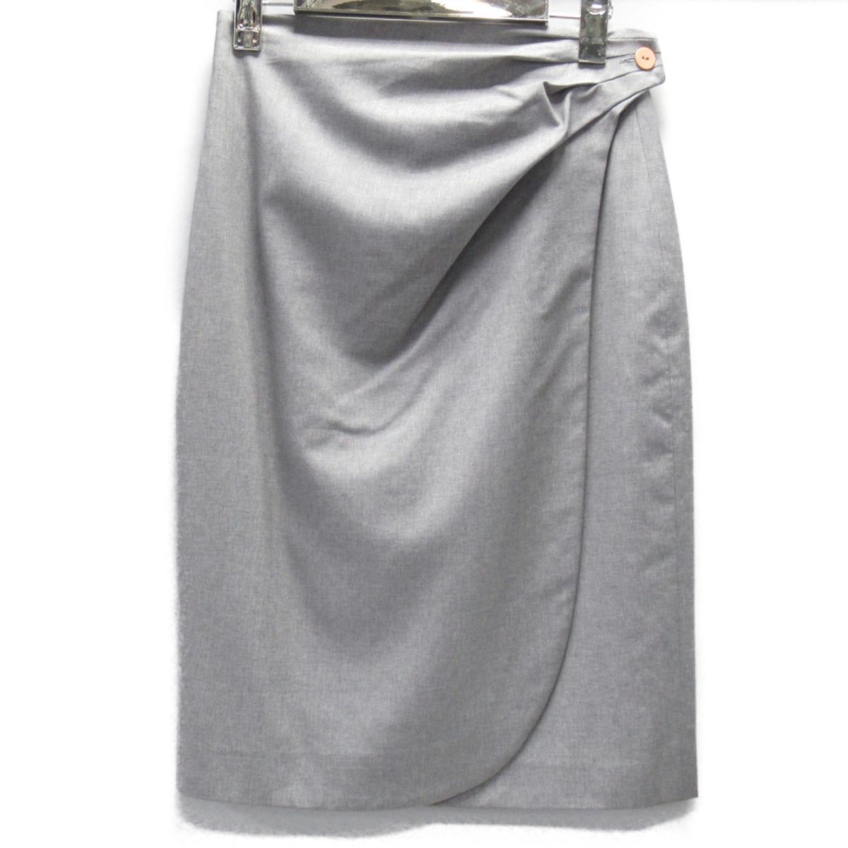 【中古】 フェンディ スカート レディース ウール グレー | FENDI BRANDOFF ブランドオフ 衣料品 衣類 ブランド ボトムス