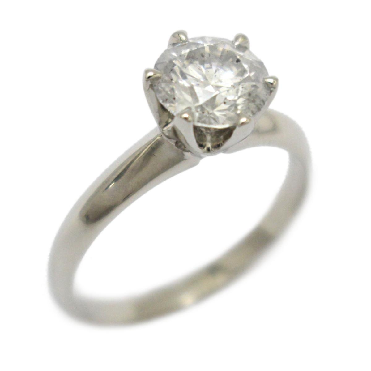 【中古】 ジュエリー ダイヤモンド リング 指輪 レディース PT900 プラチナ x (1.306)   JEWELRY BRANDOFF ブランドオフ ブランド アクセサリー