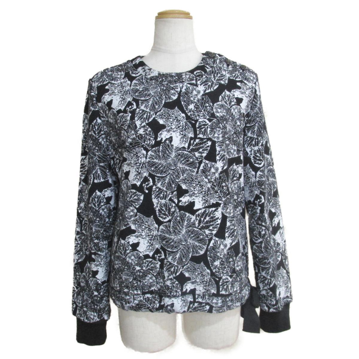 【中古】 シャネル トレーナー レディース コットン100% ブラック ホワイト (P60208K07863) | CHANEL BRANDOFF ブランドオフ 衣料品 衣類 ブランド トップス スウェット