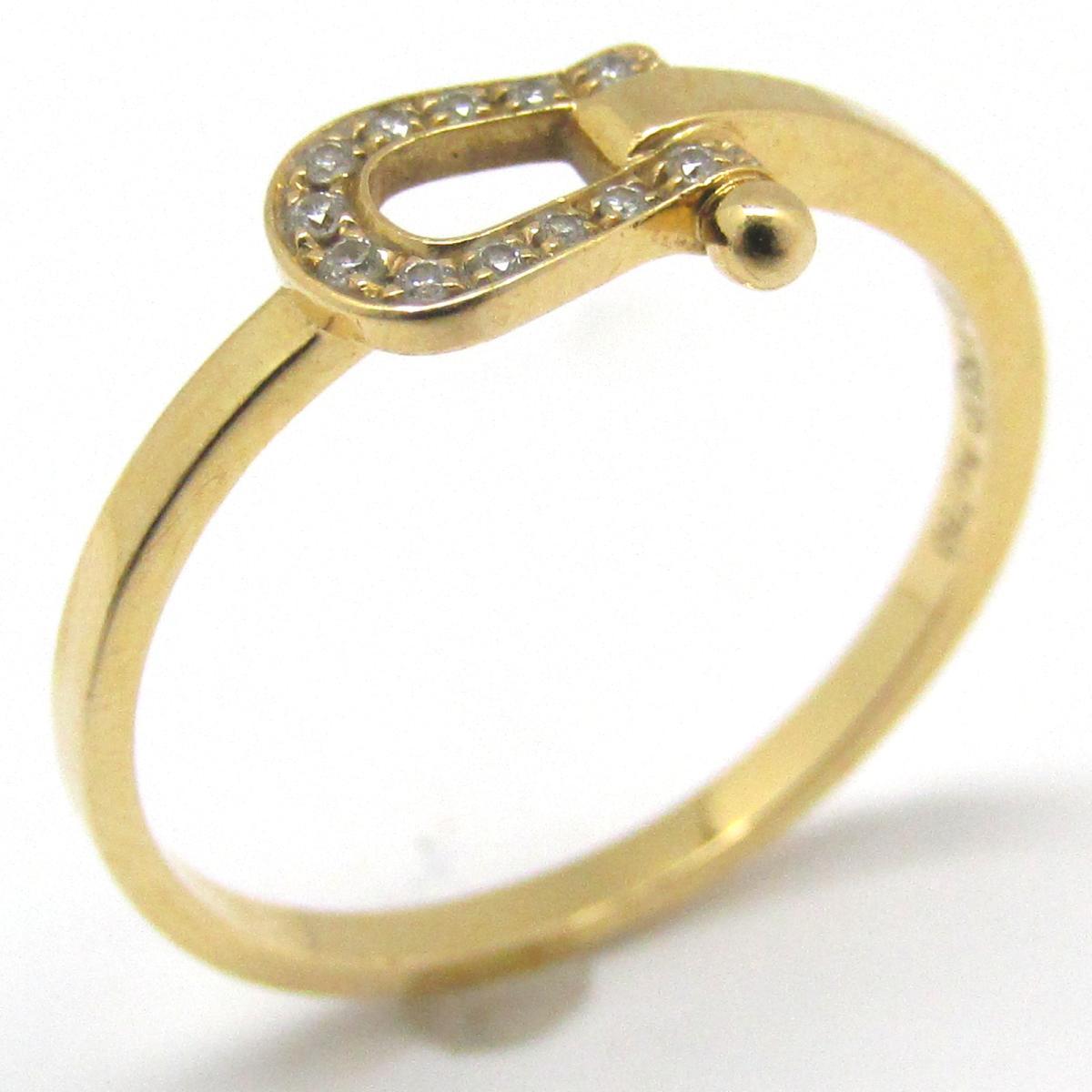 【中古】 フレッド フォース10 ミニ ダイヤモンド リング 指輪 レディース K18YG (750) イエローゴールド x | FRED BRANDOFF ブランドオフ ブランド ジュエリー アクセサリー