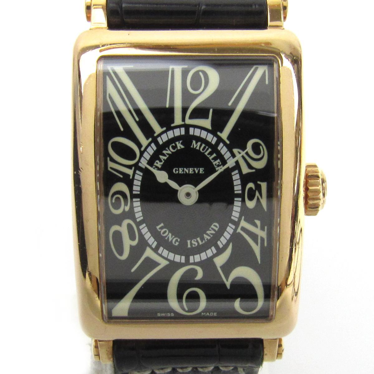 【中古】 フランク・ミュラー ロングアイランド K18PG レザー ウォッチ 腕時計 レディース (750)ピンクゴールド レザーベルト (900QZ) | FRANCK MULLER BRANDOFF ブランドオフ ブランド ブランド時計 ブランド腕時計 時計