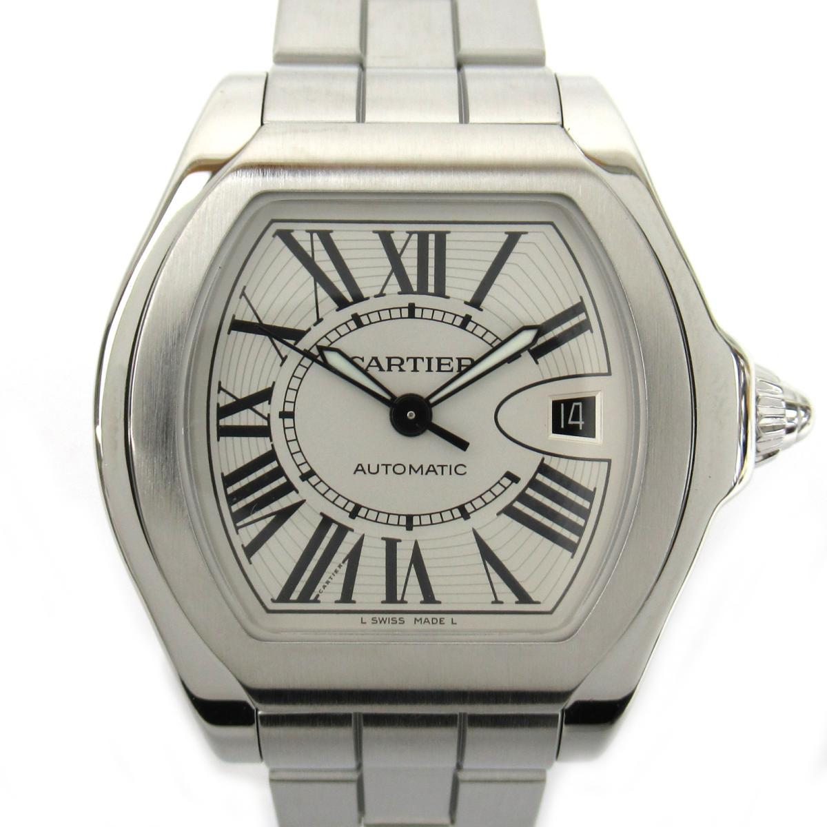 ≪期間限定≫メルマガ登録でクーポンGET! 【中古】 カルティエ ロードスター ウォッチ 腕時計 メンズ ステンレススチール (SS) (W6206017) | Cartier BRANDOFF ブランドオフ ブランド ブランド時計 ブランド腕時計 時計