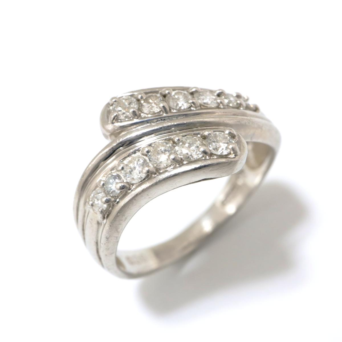【中古】 ジュエリー ダイヤモンド リング 指輪 レディース PT850 プラチナ x (0.36ct) クリアー シルバー | JEWELRY BRANDOFF ブランドオフ ブランド アクセサリー