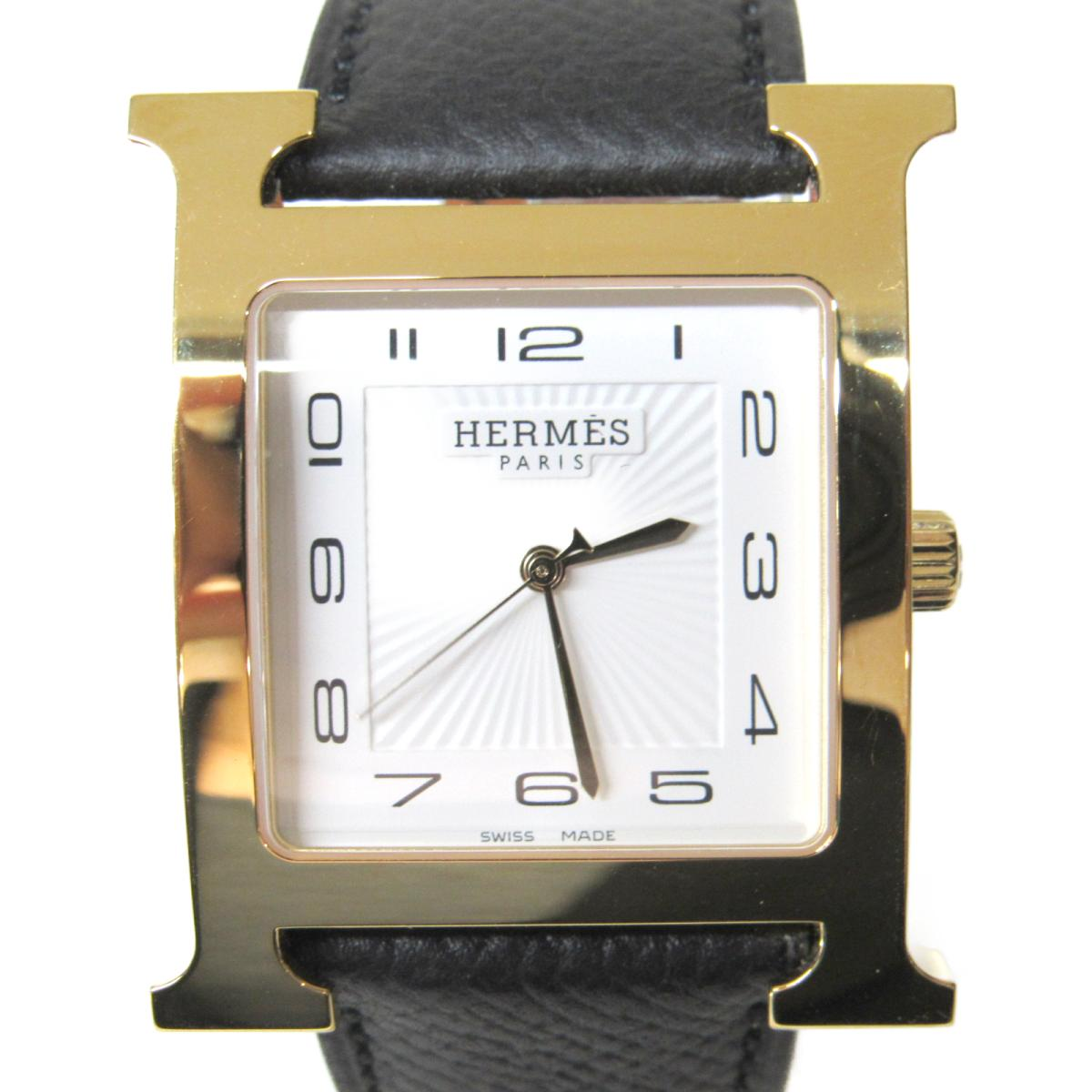 【中古】 エルメス Hウォッチ 腕時計 レディース ステンレススチール (SS) レザーベルト (HH1.801) | HERMES BRANDOFF ブランドオフ メンズ ブランド ブランド時計 ブランド腕時計 時計 ウォッチ