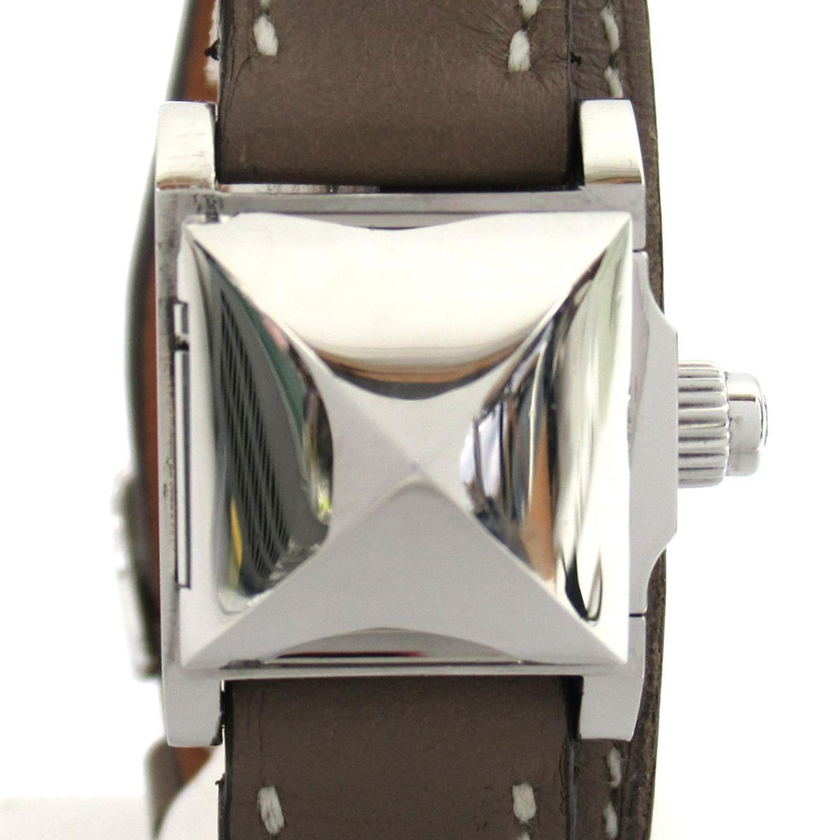 【中古】 エルメス メドール Wトゥール ウォッチ 腕時計 レディース ステンレススチール (SS) レザーベルト (ME2.110) | HERMES BRANDOFF ブランドオフ ブランド ブランド時計 ブランド腕時計 時計