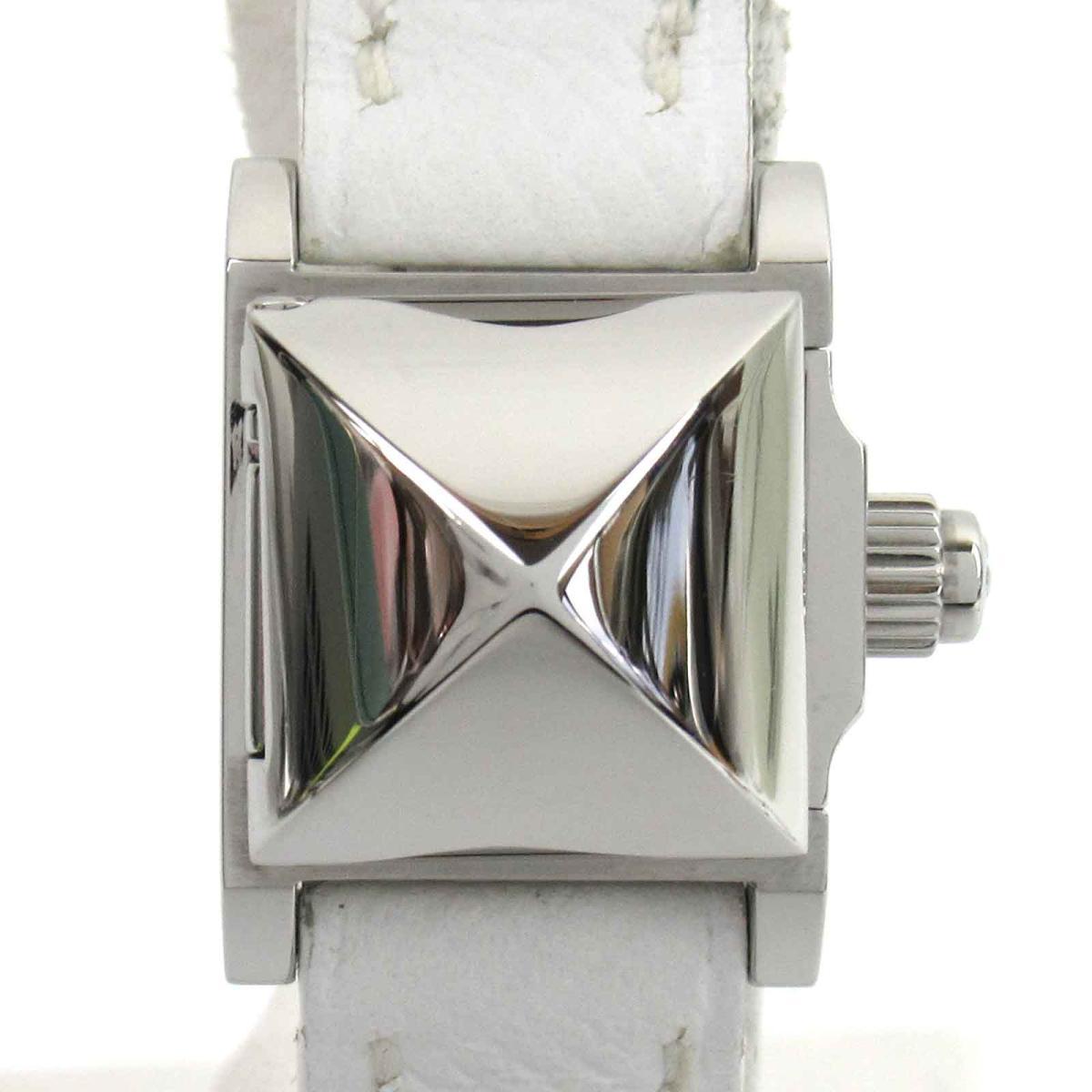 【中古】 エルメス ミニメドール ウォッチ 腕時計 レディース ステンレススチール (SS) レザーベルト (ME2.110) | HERMES BRANDOFF ブランドオフ ブランド ブランド時計 ブランド腕時計 時計