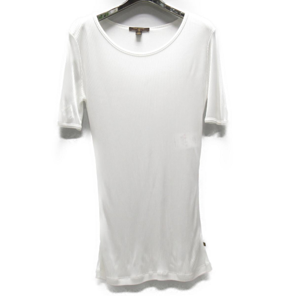 【中古】 ルイヴィトン トップス レディース レーヨン ホワイト | LOUIS VUITTON BRANDOFF ブランドオフ ヴィトン ビトン ルイ・ヴィトン 衣料品 衣類 ブランド Tシャツ シャツ カットソー