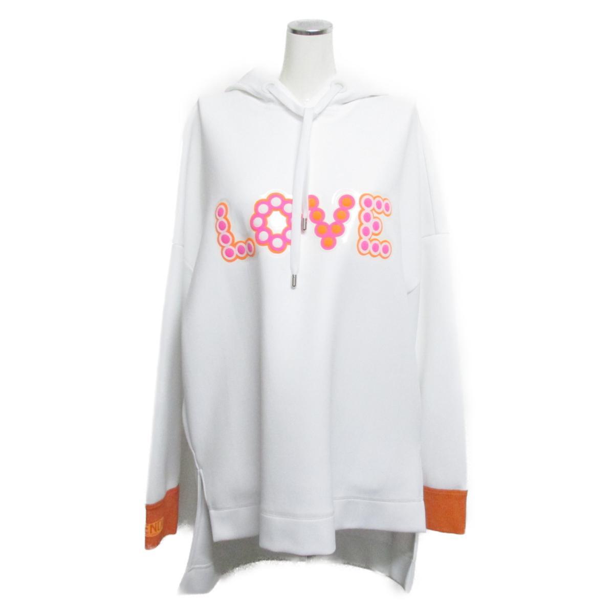 【中古】 フェンディ パーカー レディース ナイロン100% ホワイト x オレンジ ピンク   FENDI BRANDOFF ブランドオフ 衣料品 衣類 ブランド トップス