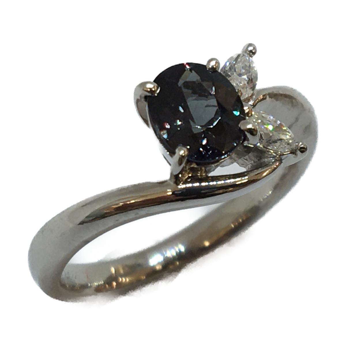 【中古】 ジュエリー カラーチェンジガーネット リング 指輪 メンズ レディース PT900 プラチナ x (0.782ct) ダイヤモンド (0.17ct) | JEWELRY BRANDOFF ブランドオフ ブランド アクセサリー