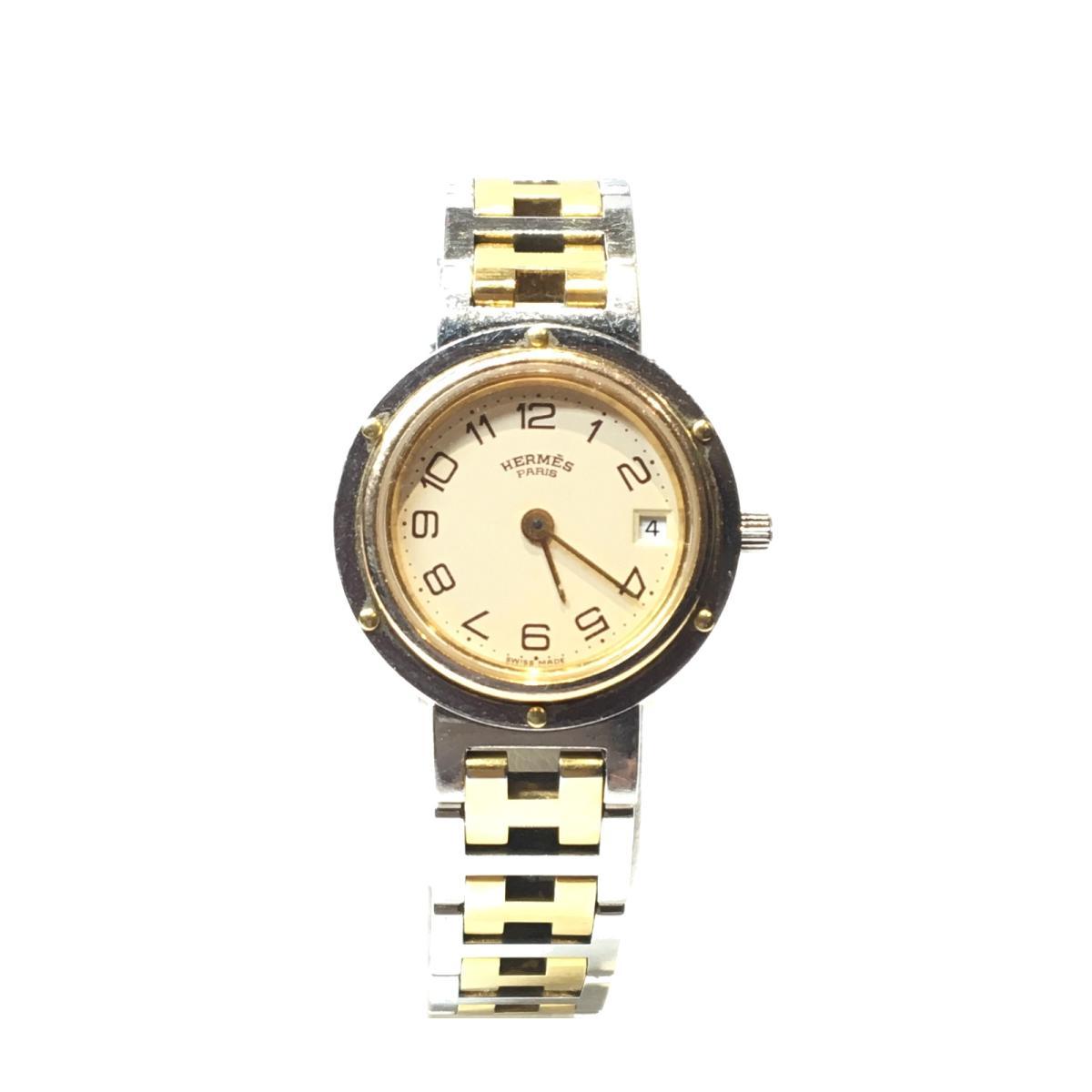 ≪期間限定≫メルマガ登録でクーポンGET! 【中古】 エルメス クリッパー 腕時計 ウォッチ レディース ステンレススチール (SS) メッキ シルバー ゴールド (CL2.440) | HERMES BRANDOFF ブランドオフ ブランド ブランド時計 ブランド腕時計 時計