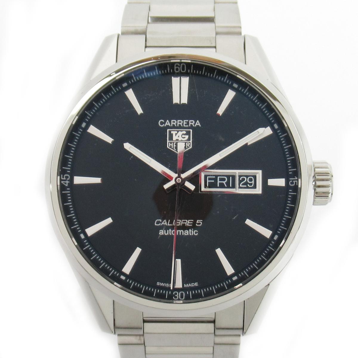 ≪期間限定≫メルマガ登録でクーポンGET! 【中古】 タグ・ホイヤー カレラ ウォッチ 腕時計 メンズ ステンレススチール (SS) (WAR201A-1) | TAG HEUER BRANDOFF ブランドオフ ブランド ブランド時計 ブランド腕時計 時計