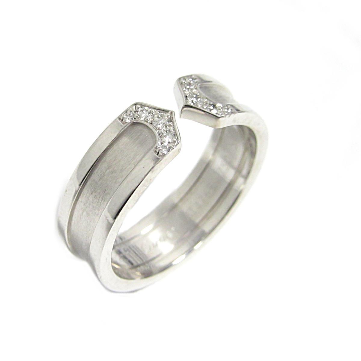 【中古】 カルティエ C2 ダイヤモンド リング 指輪 メンズ レディース K18WG (750) ホワイトゴールド x   Cartier BRANDOFF ブランドオフ ブランド ジュエリー アクセサリー