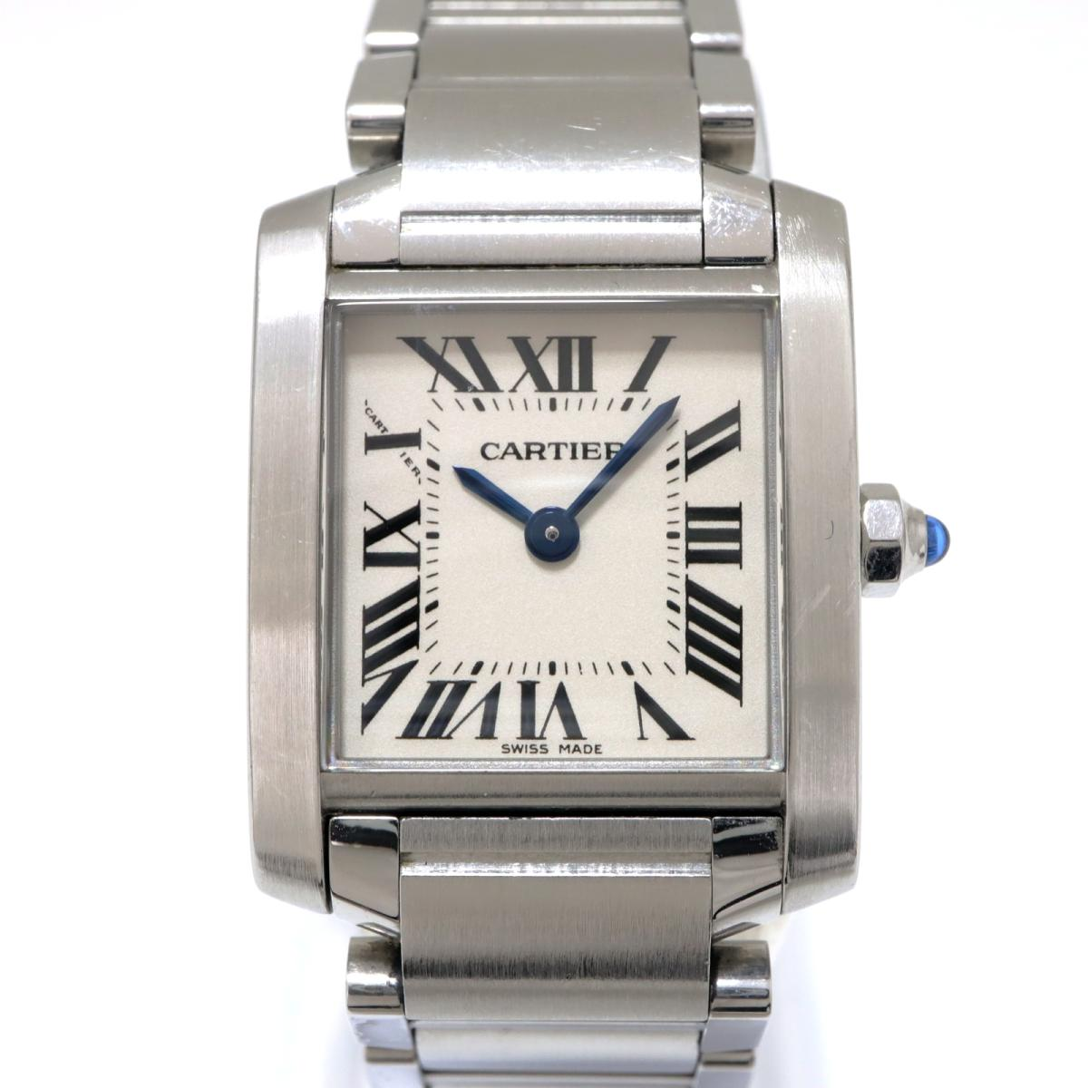 【中古】 カルティエ タンクフランセーズ SM 腕時計 レディース ステンレススチール (SS) ホワイト (W51008Q3) | Cartier BRANDOFF ブランドオフ ブランド ブランド時計 ブランド腕時計 時計 ウォッチ