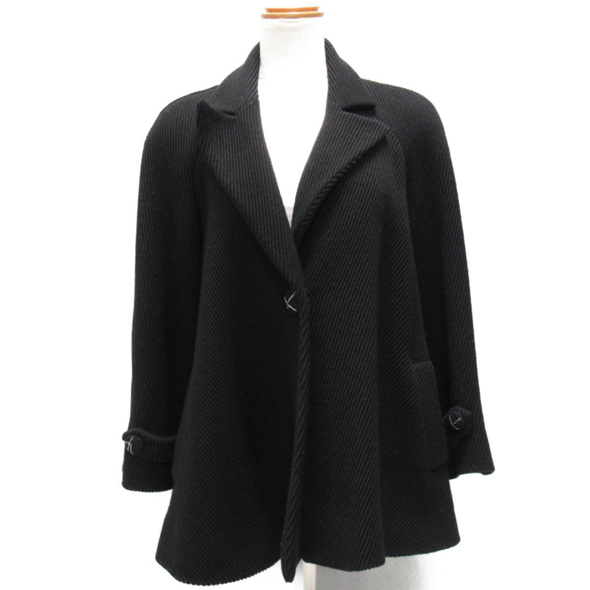 【中古】 シャネル ジャケット レディース ウール ブラック | CHANEL BRANDOFF ブランドオフ 衣料品 衣類 ブランド アウター コート