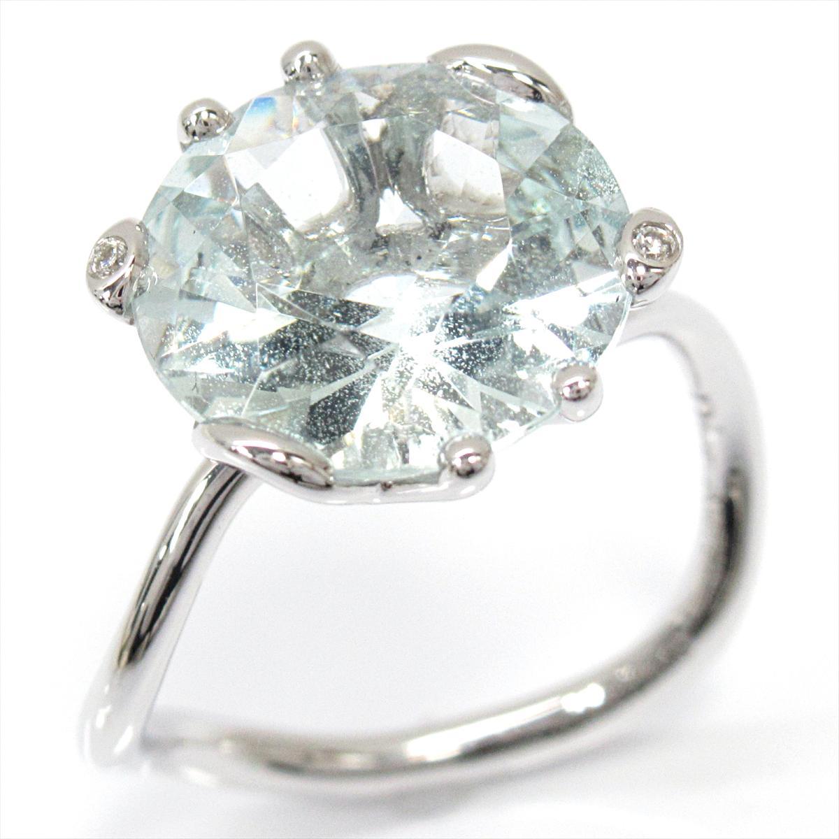 激安商品 【】 クリスチャン・ディオール アクアマリンリング 指輪 レディース K18WG (750) ホワイトゴールド x アクアマリン ダイヤモンド (JOUI95013)   Dior BRANDOFF ブランドオフ ブランド ジュエリー アクセサリー リング, AQUA-F ba9bec7b