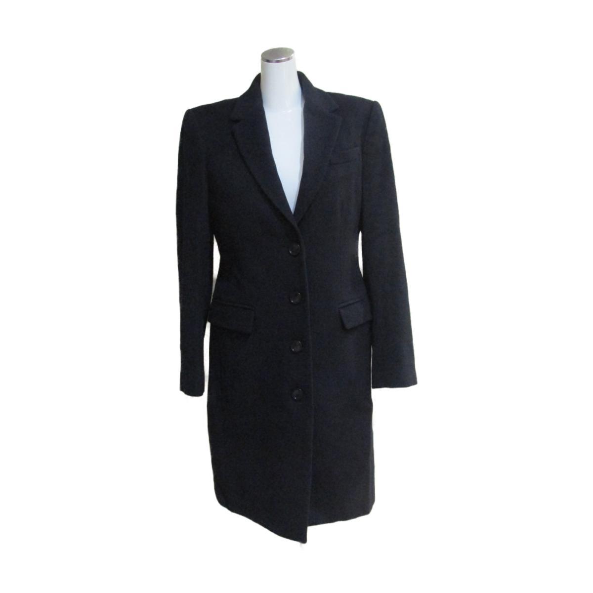 【中古】 バーバリー コート レディース 22%カシミア 78%ウール ブラック | BURBERRY BRANDOFF ブランドオフ 衣料品 衣類 ブランド アウター ジャケット