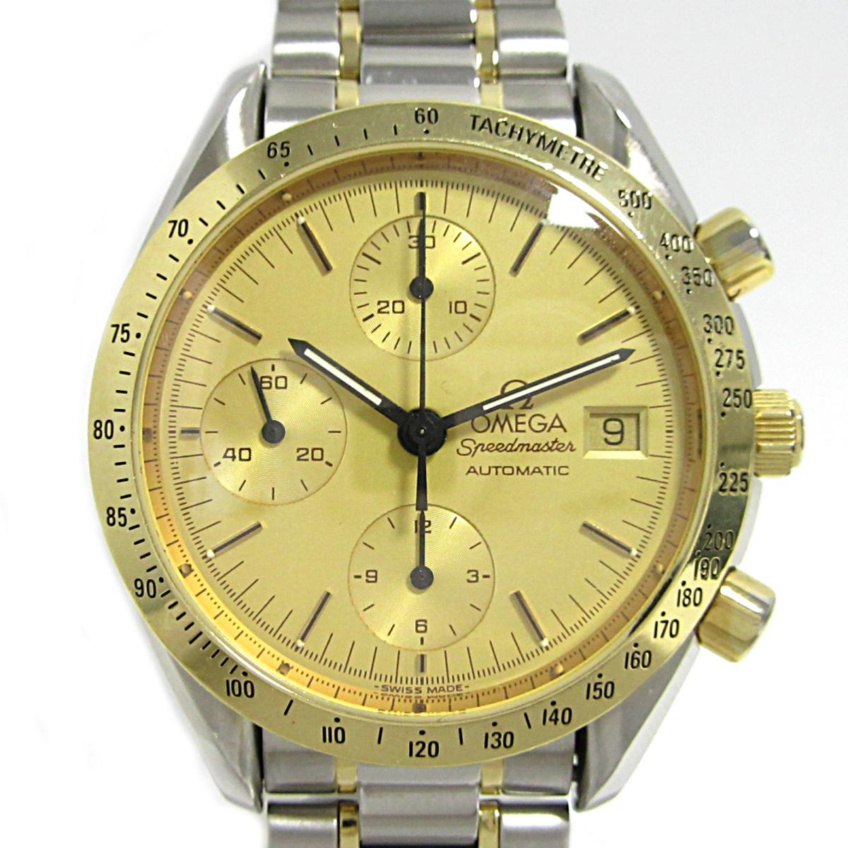 【中古】 オメガ スピードマスター デイト 腕時計 メンズ レディース ステンレススチール (SS) K18 (750)イエローゴールド (3712.10.01) | OMEGA BRANDOFF ブランドオフ ブランド ブランド時計 ブランド腕時計 時計