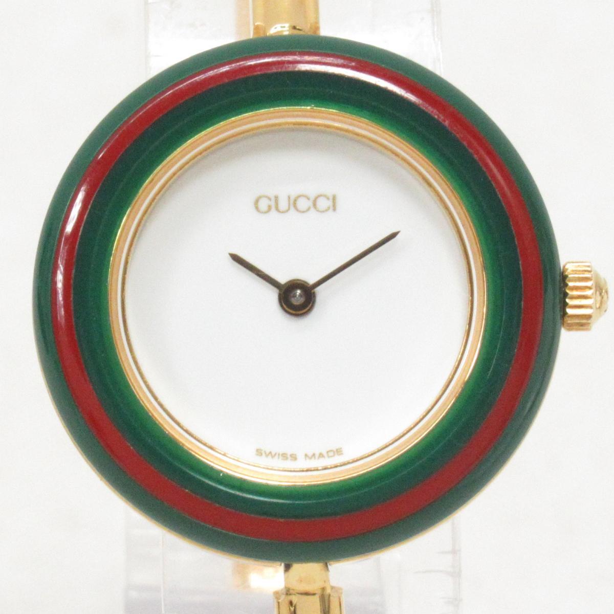 【中古】 グッチ チェンジベゼル 腕時計 ウォッチ レディース ステンレススチール (SS) (11/12.2) | GUCCI BRANDOFF ブランドオフ ブランド ブランド時計 ブランド腕時計 時計