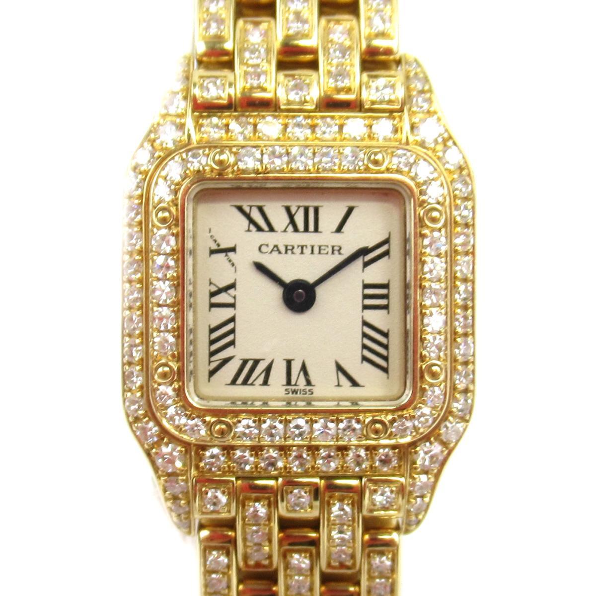 ≪期間限定≫メルマガ登録でクーポンGET! 【中古】 カルティエ パンテール フルダイヤ ウォッチ 腕時計 レディース K18YG (750)イエローゴールド ダイヤモンド (WF3141FF) | Cartier BRANDOFF ブランドオフ ブランド ブランド時計 ブランド腕時計 時計