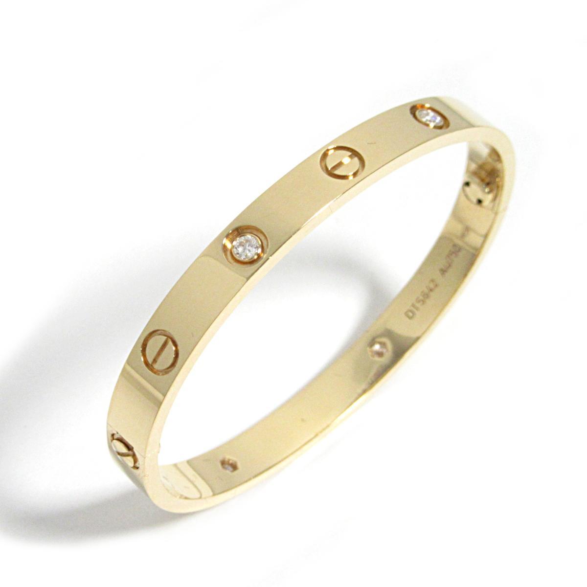 【中古】 カルティエ ラブブレス 4Pダイヤ ブレスレット レディース K18PG (750) ピンクゴールド x ダイヤモンド   Cartier BRANDOFF ブランドオフ ブランド アクセサリー 腕輪