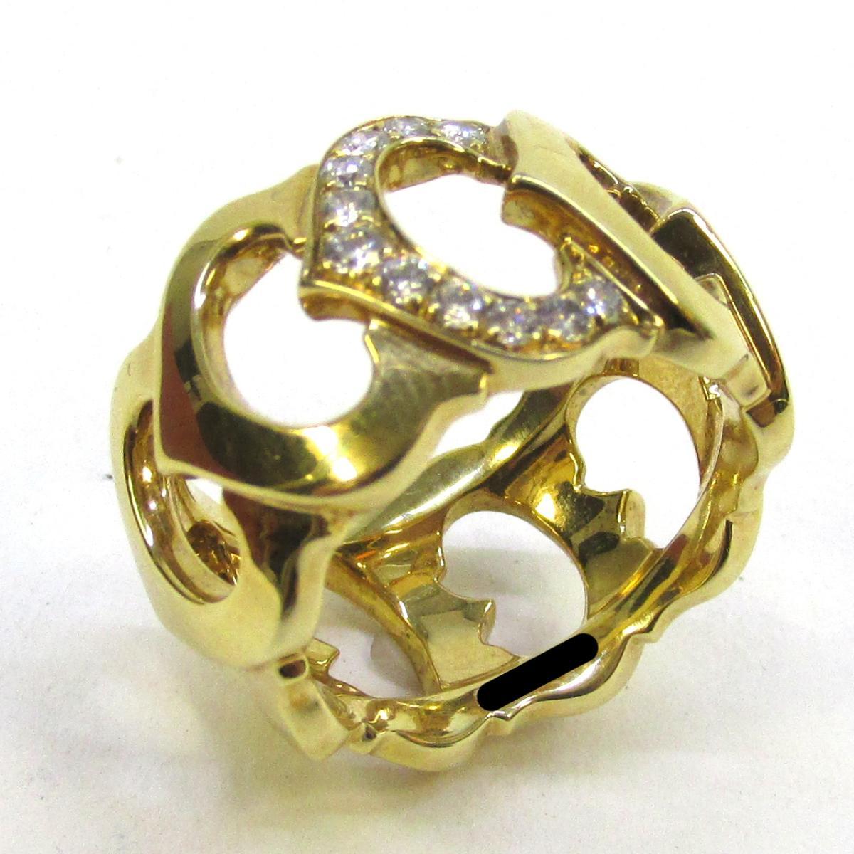 【中古】 カルティエ ダイヤモンド リング 指輪 レディース K18YG (750) イエローゴールド x | Cartier BRANDOFF ブランドオフ ブランド ジュエリー アクセサリー