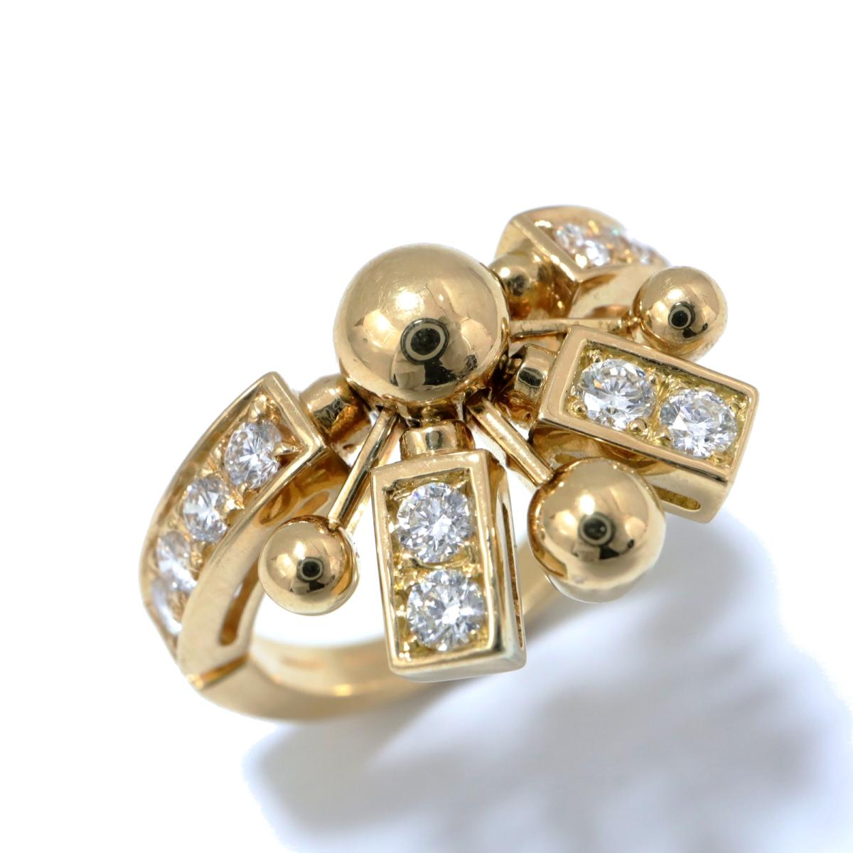 【中古】 ブルガリ アストラーレ ファイアーワークスリング 指輪 レディース K18YG (750) イエローゴールド x ダイヤモンド クリアー ゴールド | BVLGARI BRANDOFF ブランドオフ ブランド ジュエリー アクセサリー リング