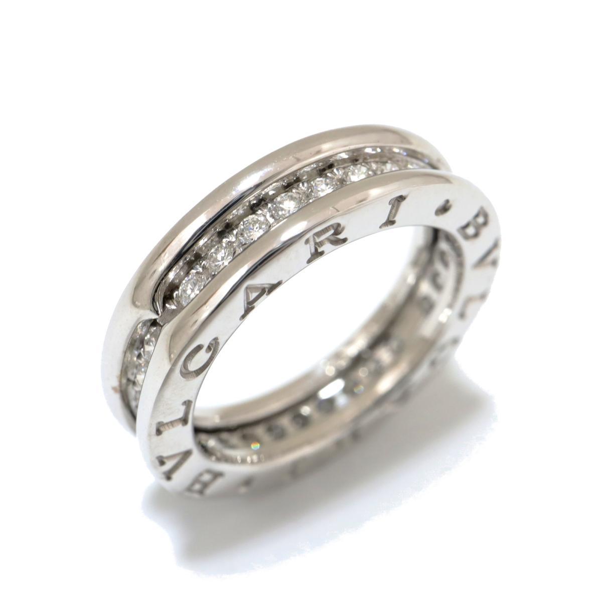 【中古】 ブルガリ B-zero1 リング x S フルダイヤ 指輪 レディース K18WG (750) ホワイトゴールド ダイヤモンド クリアー シルバー | BVLGARI BRANDOFF ブランドオフ ブランド ジュエリー アクセサリー