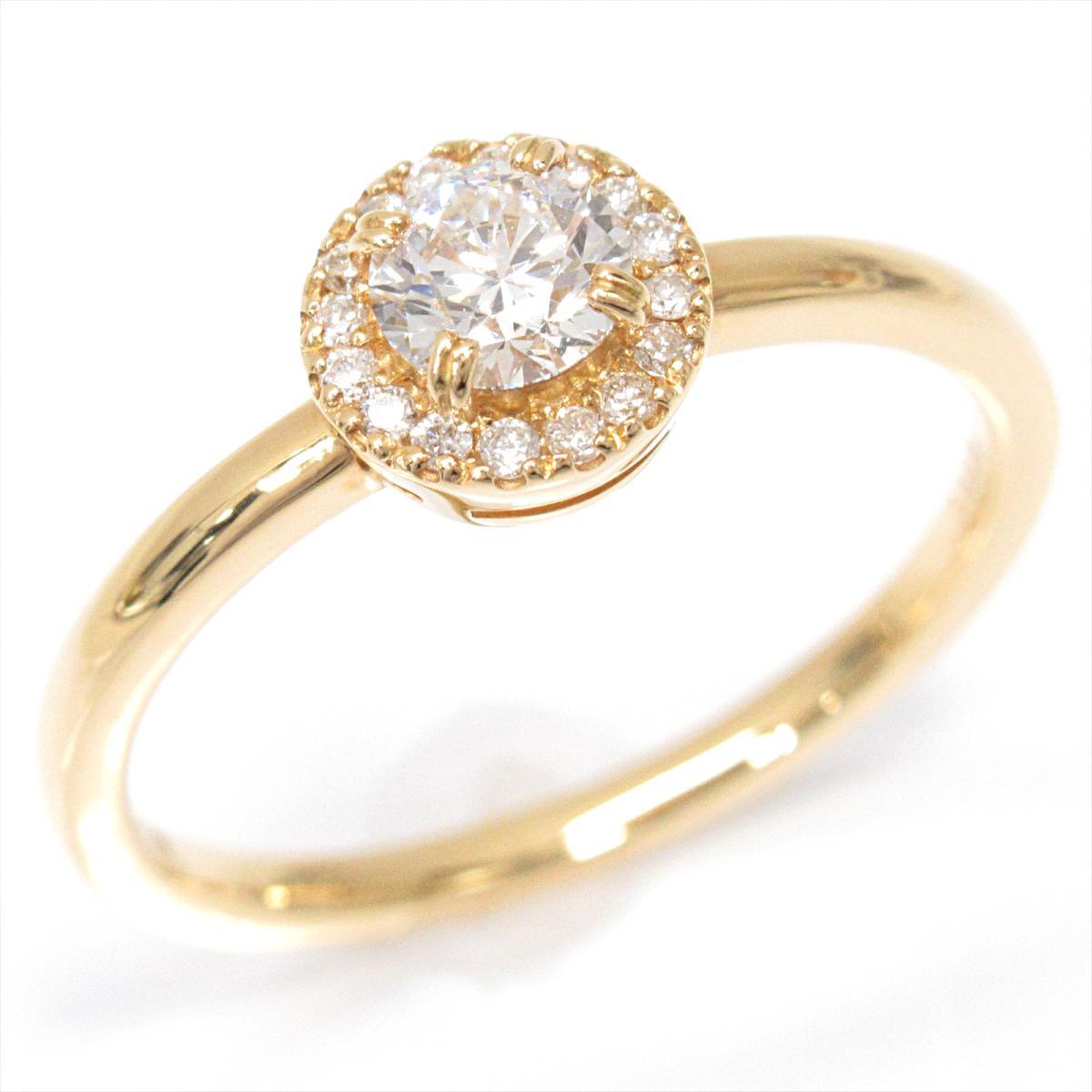 【中古】 ルジアダ ダイヤモンドリング 指輪 レディース K18YG (750) イエローゴールド x ダイヤモンド (0.282ct) | RUGIADA BRANDOFF ブランドオフ ブランド ジュエリー アクセサリー リング