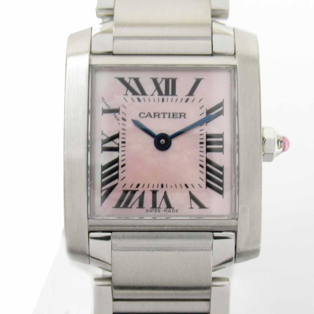 ≪期間限定≫メルマガ登録でクーポンGET! 【中古】 カルティエ タンクフランセーズSM ウォッチ 腕時計 レディース ステンレススチール (SS) (W21028Q3) | Cartier BRANDOFF ブランドオフ ブランド ブランド時計 ブランド腕時計 時計