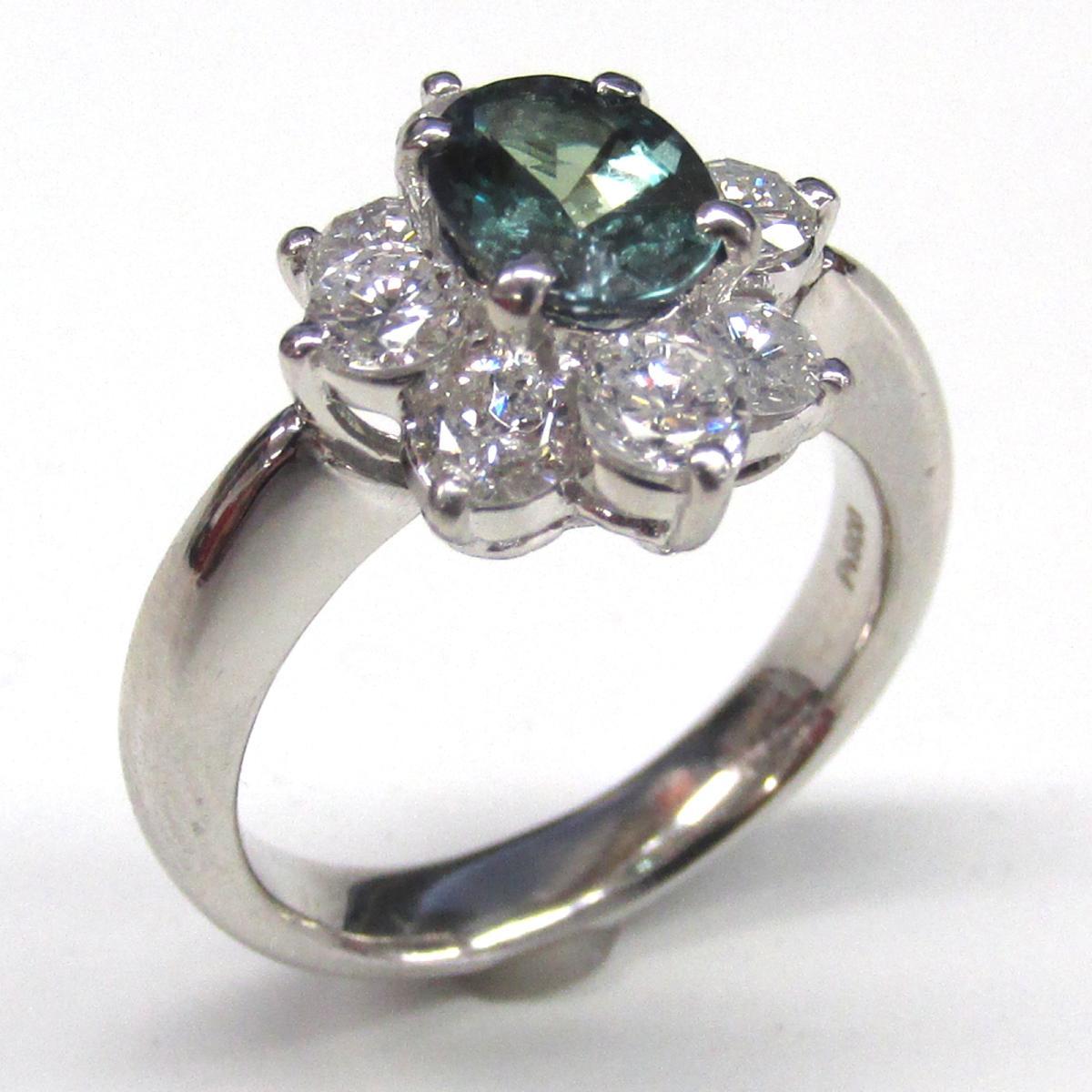 【中古】 ジュエリー アレキサンドライト ダイヤモンド リング 指輪 レディース PT900 プラチナ x (1.18ct) (1.24ct) | JEWELRY BRANDOFF ブランドオフ ブランド アクセサリー