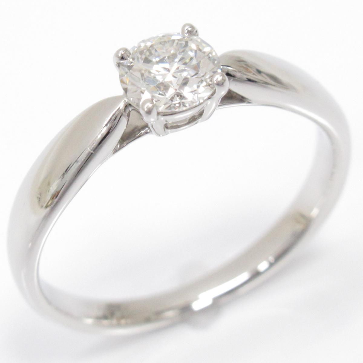 【中古】 ティファニー ハーモニーリング 指輪 レディース PT950 プラチナ x ダイヤモンド0.35ct   TIFFANY&CO BRANDOFF ブランドオフ ブランド ジュエリー アクセサリー リング
