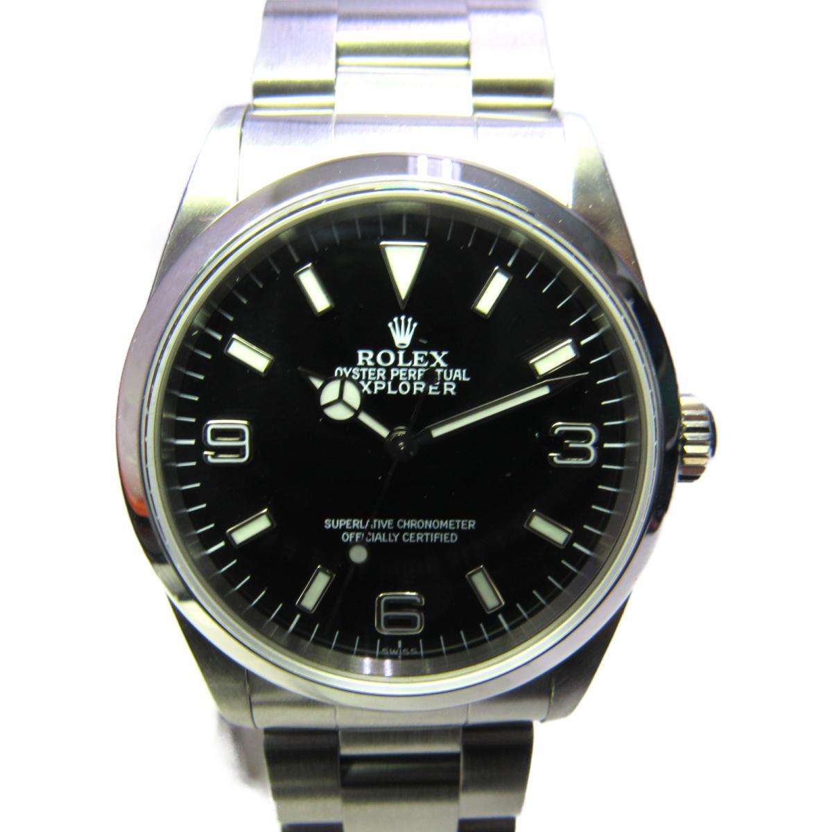 ≪期間限定≫メルマガ登録でクーポンGET! 【中古】 ロレックス エクスプローラー 1 腕時計 ウォッチ メンズ ステンレススチール (SS) ブラック | ROLEX BRANDOFF ブランドオフ ブランド ブランド時計 ブランド腕時計 時計